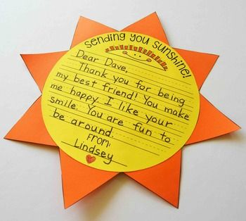 Sending You Sunshine!!!! The Classroom Kindness Project