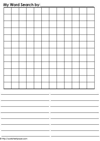Blank Word Search  Spelling worksheets, Word search printables
