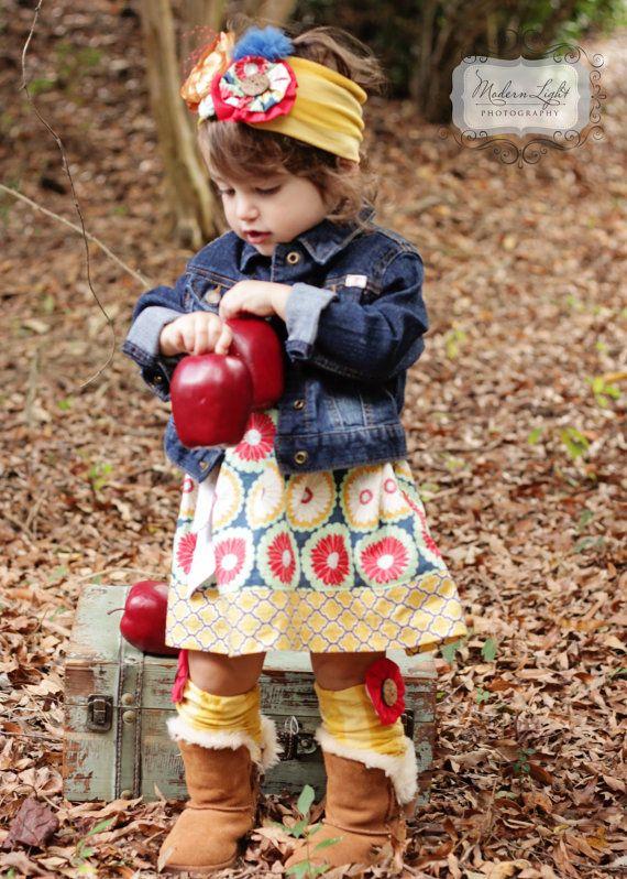 Toddler girls dress, boutique Girls dress, fall outfit, peasant dress, baby dress,Boutique fall outfit, leg warmers, flower headband,