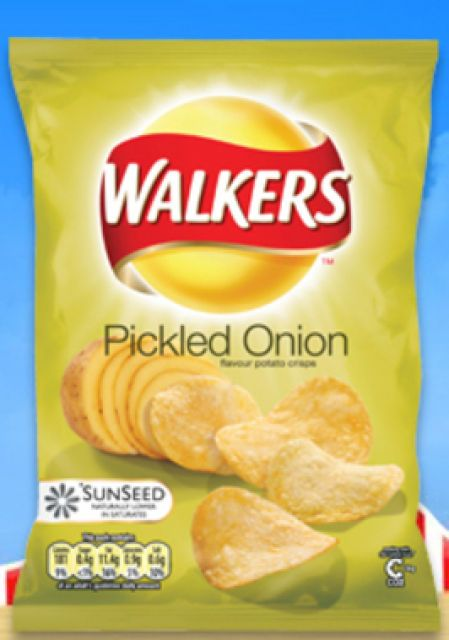 Walkers Pickled Onion. Called Lays here but they dont have this flavour.