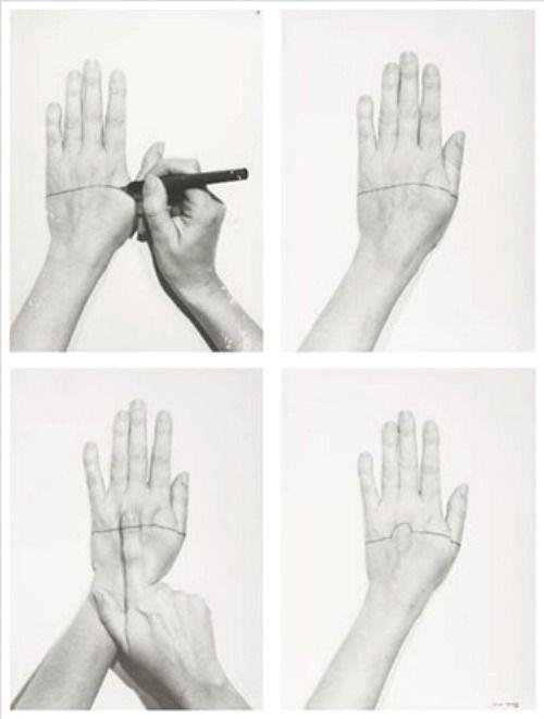 Sente-me (Feel Me) by Helena Almeida, 1977 /via http://frenchtwist.tumblr.com/post/43826748889/sente-me-feel-me-by-helena-almeida-1977-also
