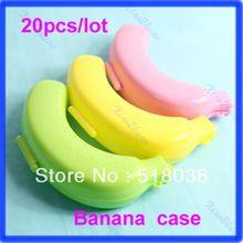Бесплатная доставка 20pcs/lot Большой Симпатичные Обед Банан гвардии Контейнер для хранения фруктов протектор Пластиковые Box Дело(China (Mainland))