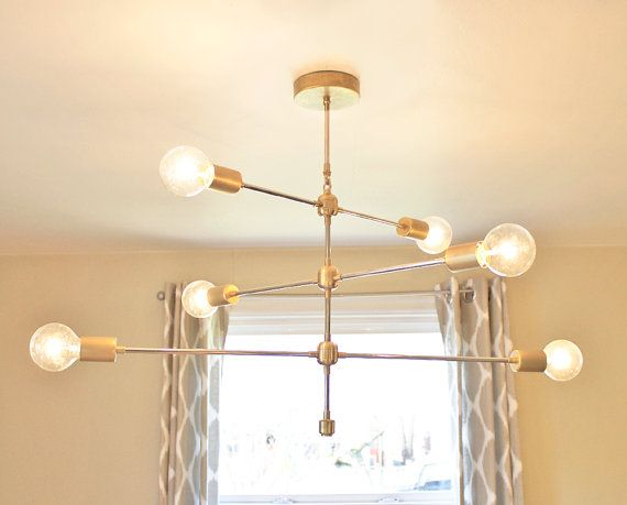 FREE SHIPPING NEW  The Armstrong: Modern Brass Chandelier