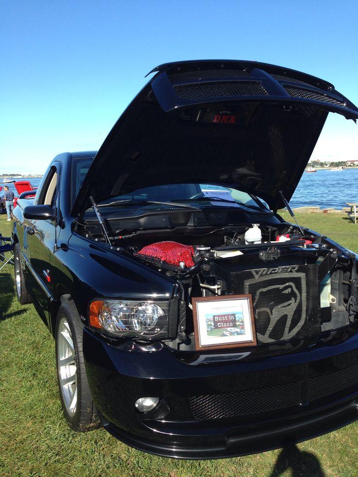 Dodge ram SRT 10 viper truck. Red snake skin under the hood.   Cars   Pinterest   Dodge rams ...