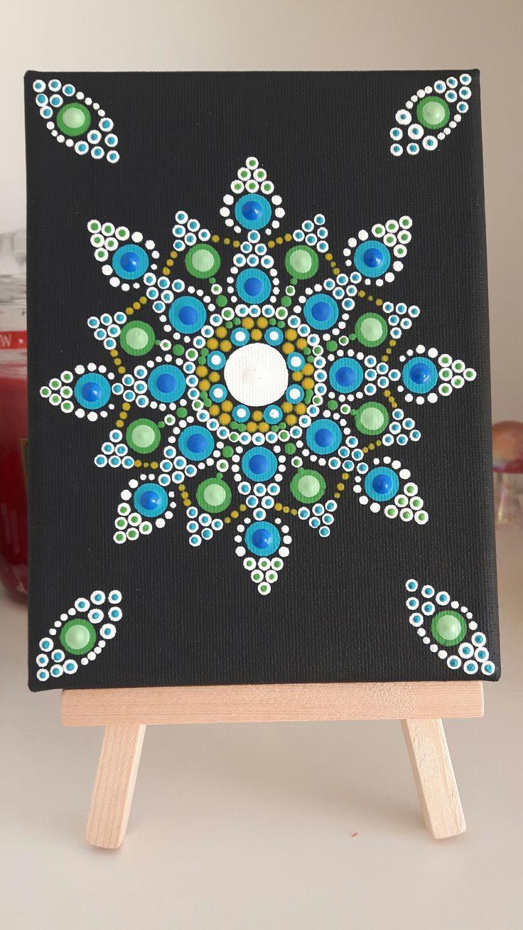 Dot Mandala on canvas