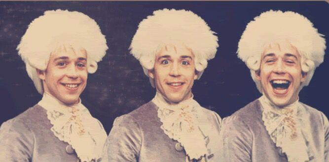 Tom Hulce as Mozart in Amadeus