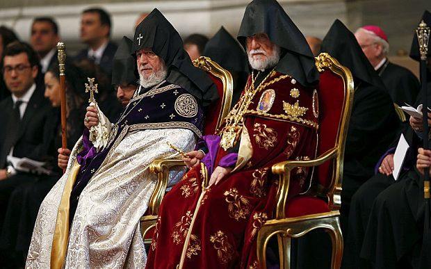 Turkey protests to Pope Francis after he brands Armenian killings 'genocide' - Telegraph