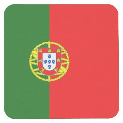 Portuguese flag of Portugal paper drink coasters - wedding party gifts equipment accessories ideas