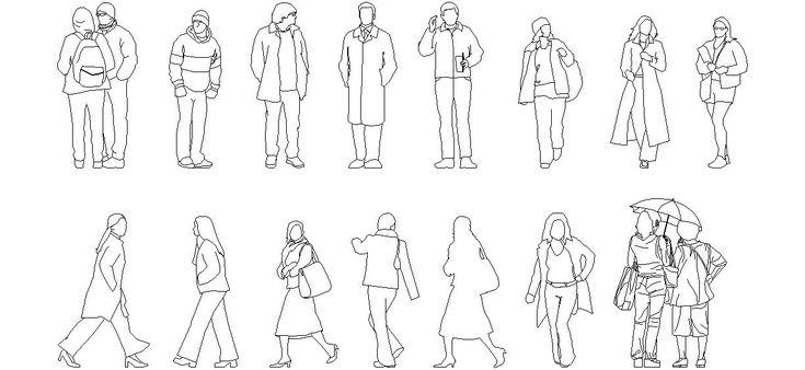 Dwg Adı : Kışlık elbiseli insan figürleri  İndirme Linki : http://www.dwgindir.com/puanli/puanli-2-boyutlu-dwgler/puanli-insan-ve-hayvanlar/kislik-elbiseli-insan-figurleri.html