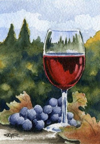 Wine Glass -  Etsy $9.50   David J. Rogers lives and paints in central California. He has been a full time professional artist for over 20 years and his artwork is actively collected worldwide. He sells his art through juried art shows throughout California, through various galleries, and via the internet.