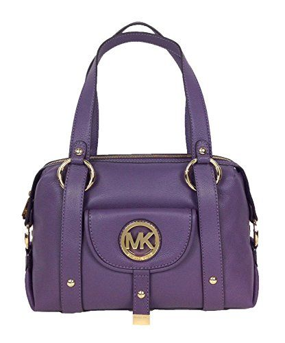 Michael Kors Fulton Large Leather Satchel, Wisteria Micha-$358.00