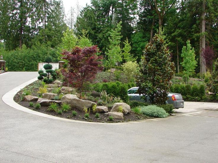138 best images about mountain home landscaping on for Mountain landscape design