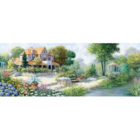 English cottage Canvas Art - Peter Motz (24 x 48)