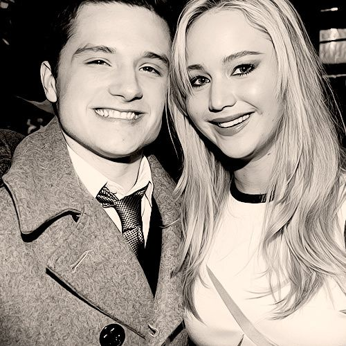 God, I love these two! Jennifer Lawrence and Josh Hutcherson.