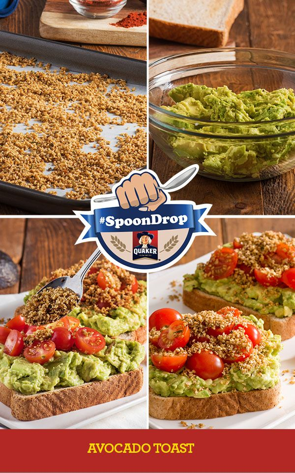 Own Mornings. #SpoonDrop Making something easy look impressive is a real skill. You can claim this Avocado Toast Oat Crumble as your piece de resistance. Full Recipe: http://www.quakeroats.ca/recipes/avocado-toast-savoury-oat-crumble