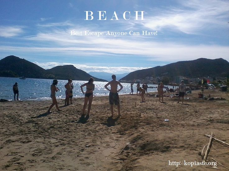 BEACH = Best Escape Anyone Can Have Good morning!  The weather may have changed but we are not giving up on summer yet!  #Tolo_beach #Tolo_in_October #Nafplio #beach #Summer