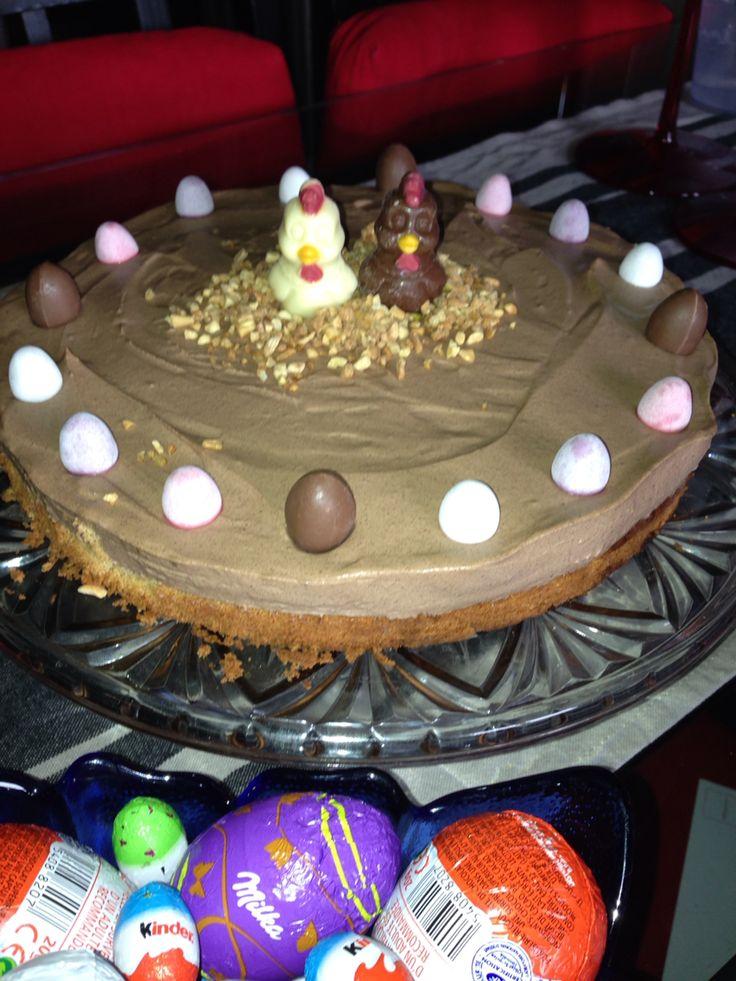 Gâteau pour Pâque : quatre quart et mousse au chocolat