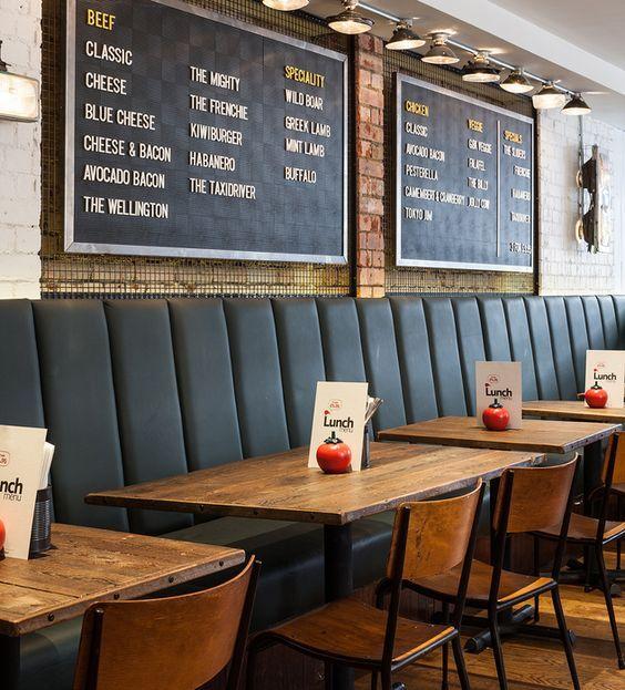Cafe Banquette Seating: Top 25+ Best Burger Restaurant Ideas On Pinterest