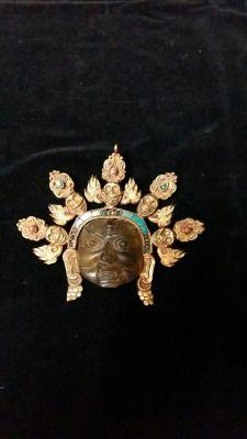 Cristallo di rocca,rame bagno oro Cm.15 x 14
