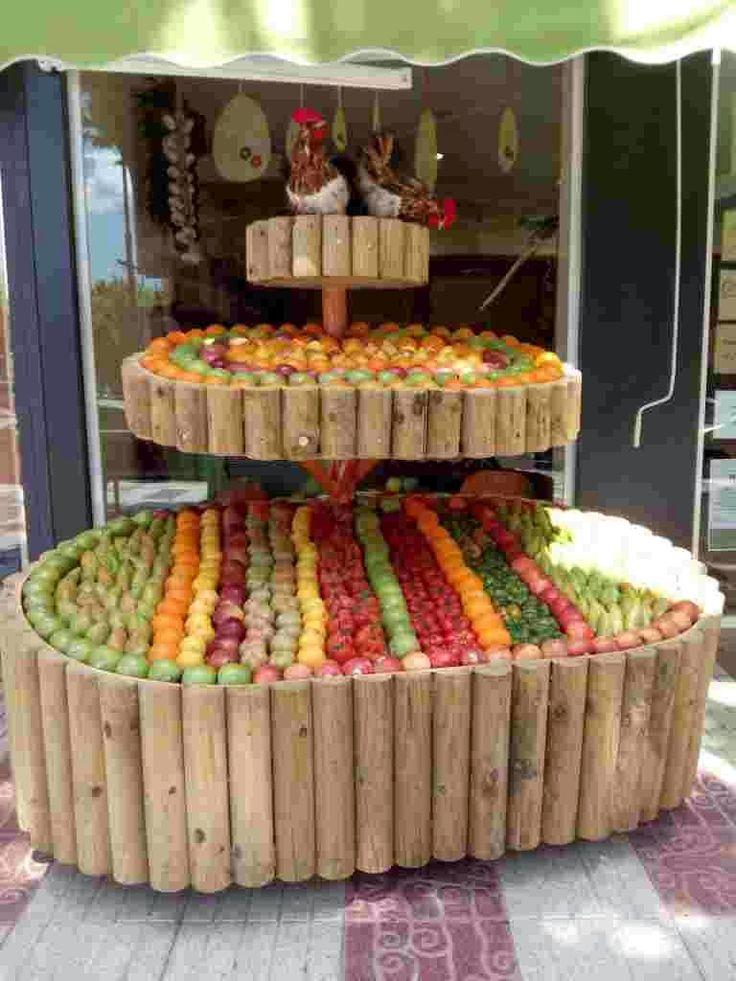 En esta fruteria si dan ganas de comprar fruta fruterias for Decoracion con verduras