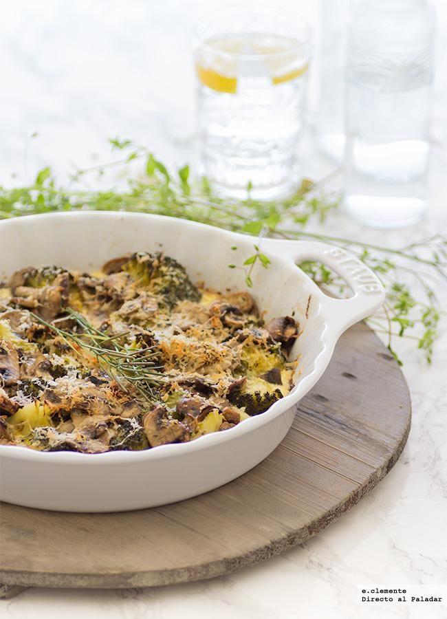 Gratén de brócoli y champiñones. Receta Ground Turkey, Veggie Recipes, Summer Recipes, A Food, Soup, Favorite Recipes, Vegetables, Cooking, Healthy
