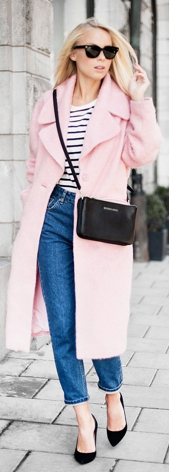 Chic In The City- Light Pink Cozy Oversize Coat by- ♔LadyLuxury♔