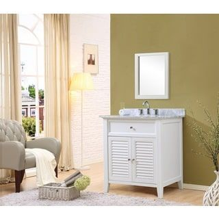 Photo Gallery On Website Shop for Direct Vanity Sink inch Shutter Spa White Vanity Get free delivery