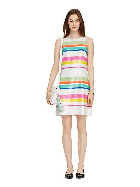 cape stripe sequin dress - Kate Spade New York