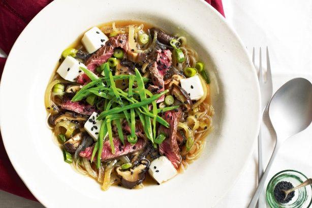 Beef sukiyaki salad