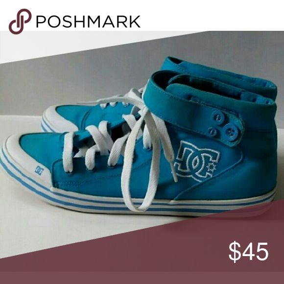 DC sneakers Turquoise women's high tops Shoes Sneakers