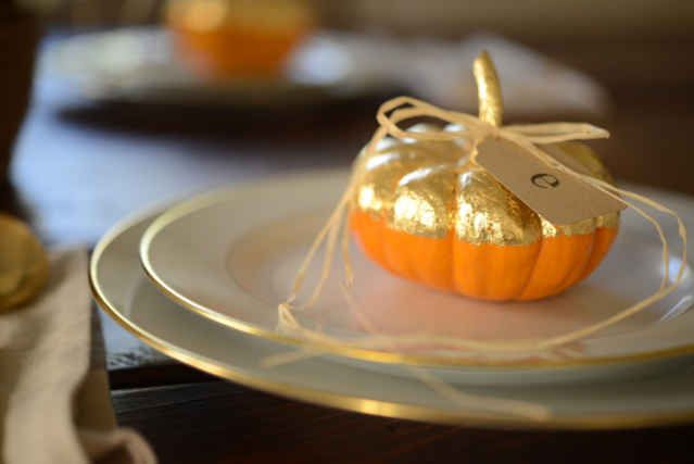 Gilded Harvest Place Cards - Cupcakes & Cashmere