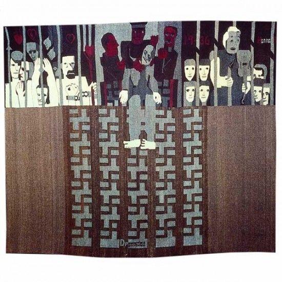Hannah Ryggen / absolutetapestry.com, Dream Death, 225 x 276 cm