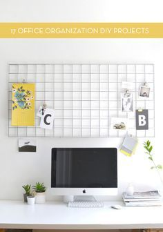 17 DIY projects to help you organize your home office or workspace.