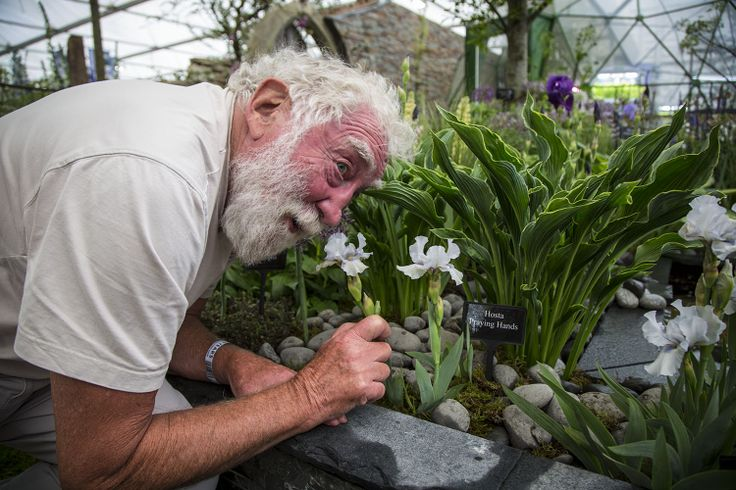 David James Bellamy OBE, English author, broadcaster, environmental campaigner and botanist takes a closer look at the garden