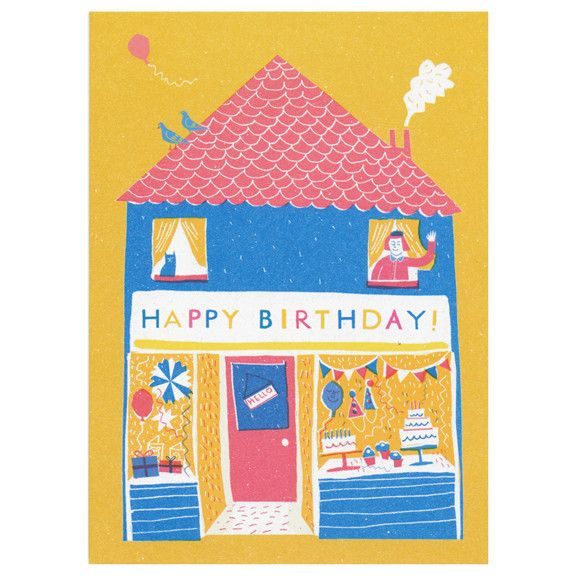 Birthday Shop Card by Louise Lockhart (Little Otsu).
