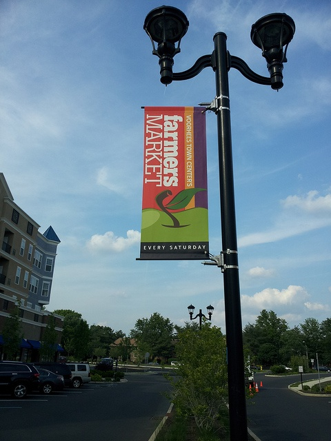 Lamp Post Banner with Wind-Spilling Brackets by Britten, Inc.