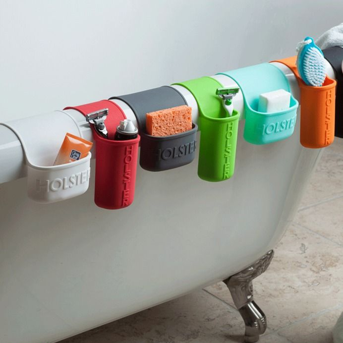 Industrial Design / These storage pockets stick and hang anywhere for quick storage.
