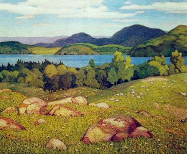 Grey October Morning by A.J. Casson - Limited Edition Print | Lithograph | 18 x 22 inches | 46 x 56 cm