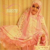 Mukena Cantik Sweety Pinky,  Mukena Katun Jepang