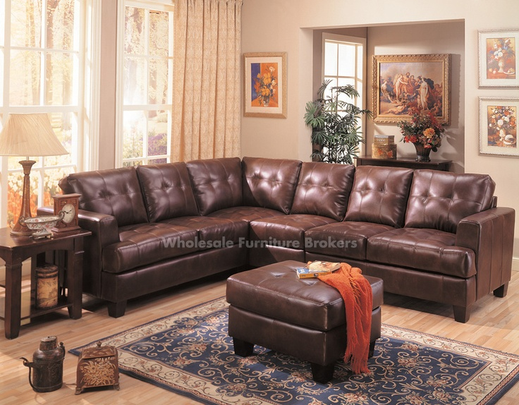 the coaster samuel leather sectional sofa in dark brown at local furniture outlet would be a great item to purchase in austin texas