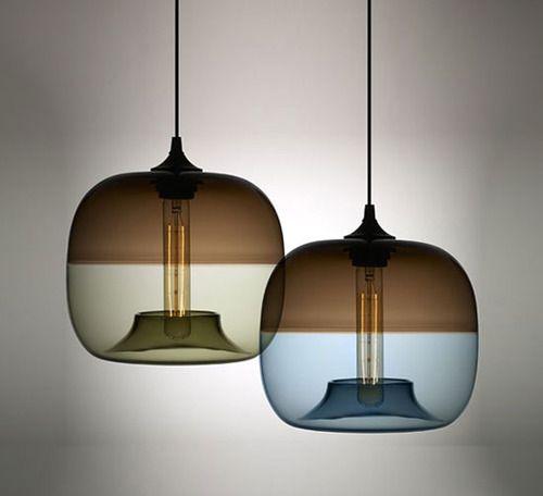 Hand blown lighting by Niche Modern