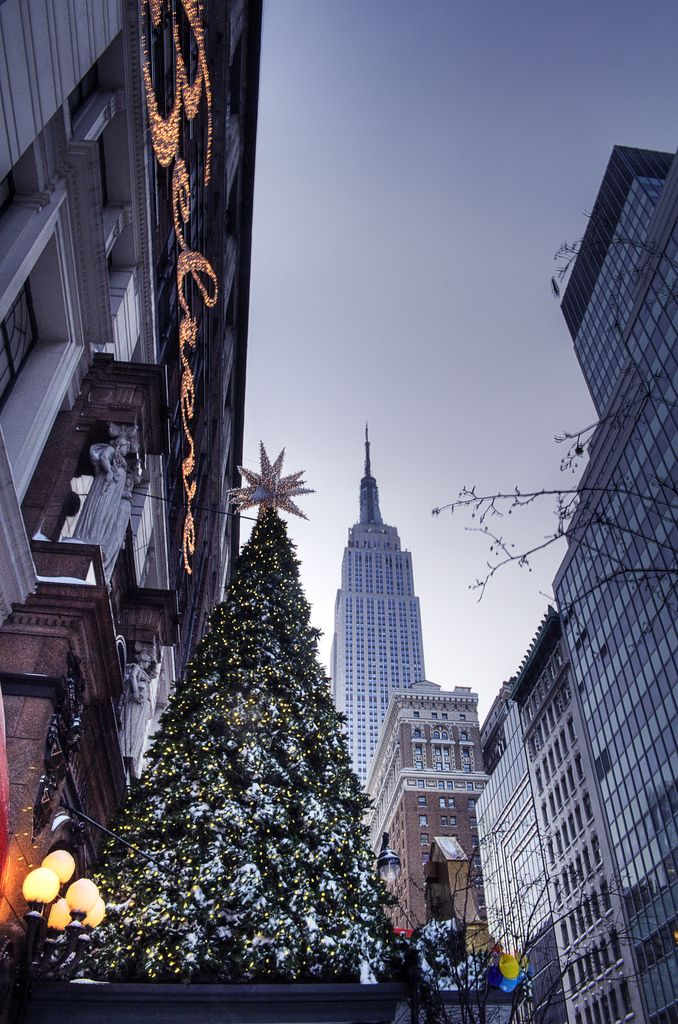 Macy*s Herald Square NYC December 2015 with the Empire State building in the background what a fabulous picture. Merry Christmas to all