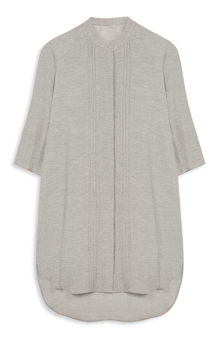 Primark - Grijze jurk met plooitjes