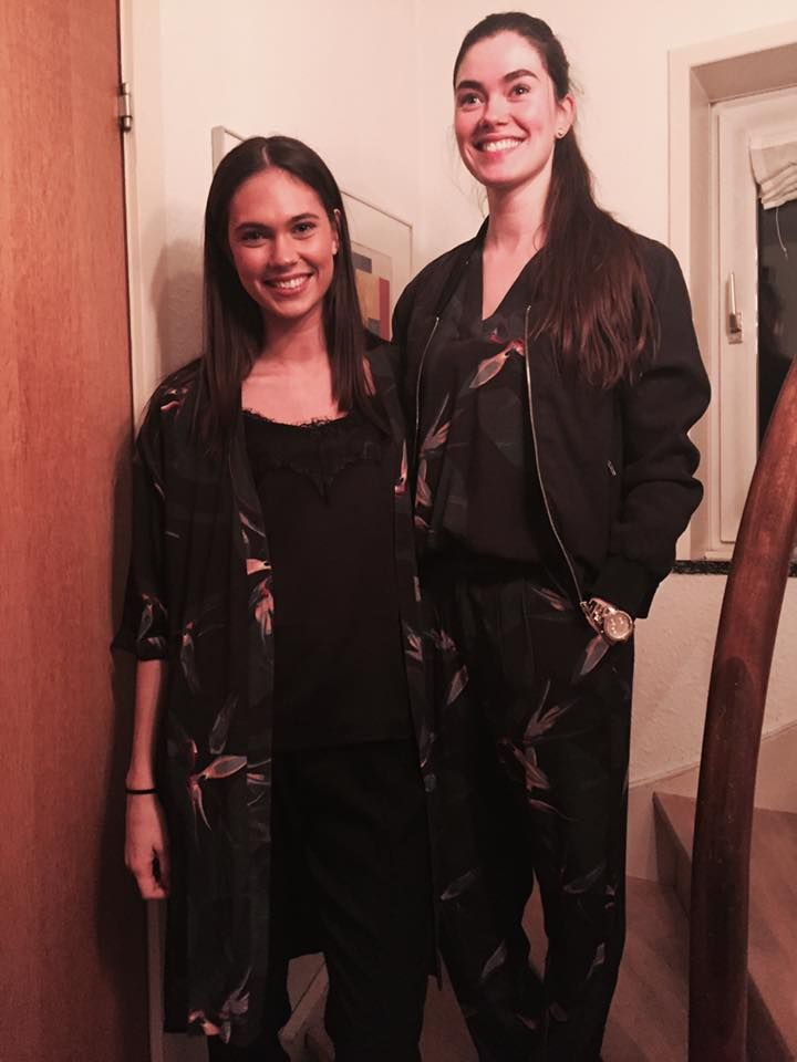 Picture from Anja Cecilie Krarup. Two beautiful Black Swan Fashion models. Left model wearing Jillian top, Jessie pant and Julia kimono. Right model wearing Jones bumber jacket, Joy top and Jane pant. Everything from Black Swan Fashion SS17