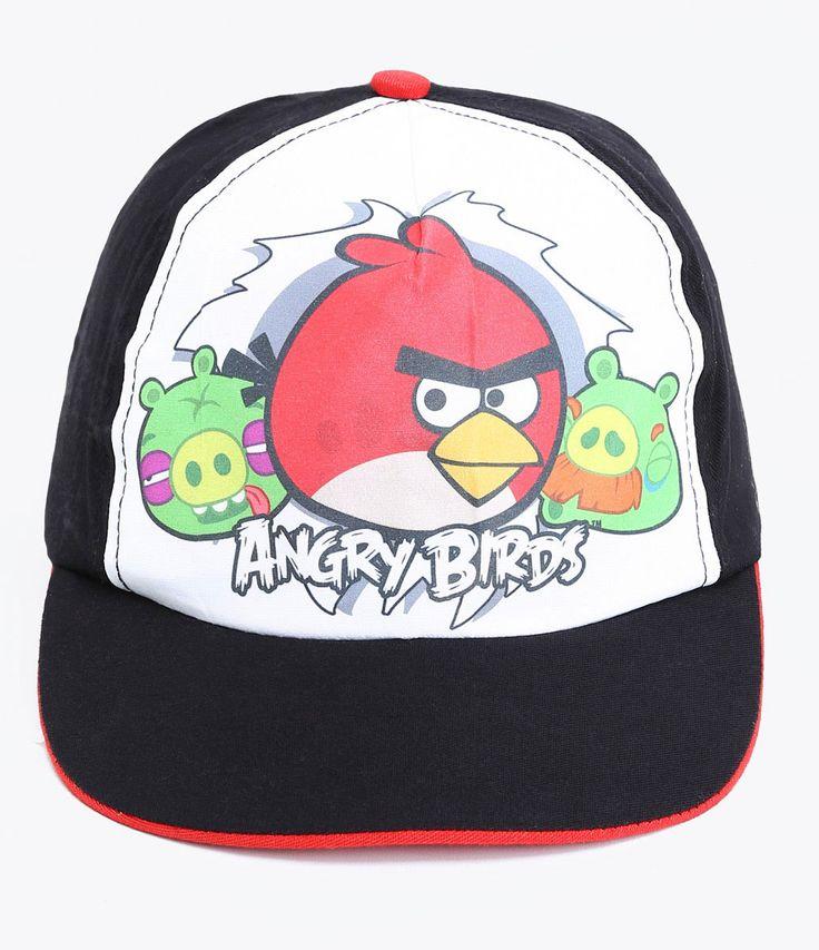 Boné infantil    Estampado    Com aba reta    Marca: Angry Birds         COLEÇÃO VERÃO 2017
