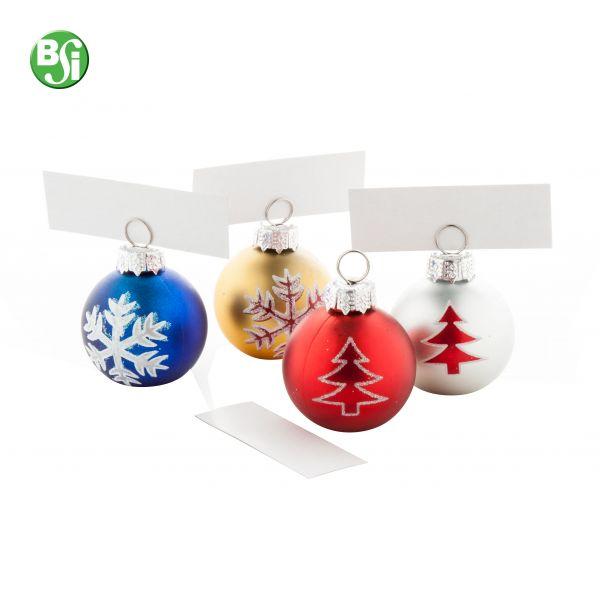 Set di ornamenti 4pz per l'albero di Natale in scatola di carta. Gli ornamenti possono essere utilizzati anche come memo clip.  #ornamenti #alberodinatale #gadget #natale #gadgetpersonalizzati #bsigadget #christmas