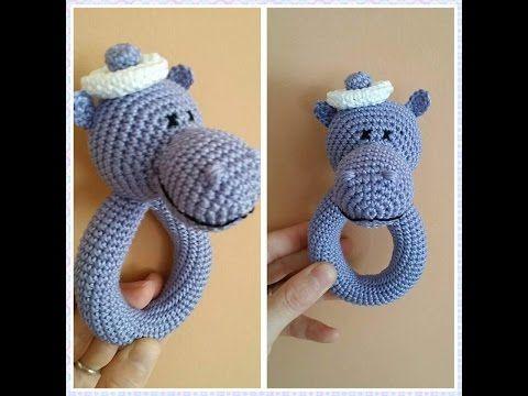 погремушка вязаная бегемот крючком Мастер-класс amigurumi crochet beanbag hippo - YouTube