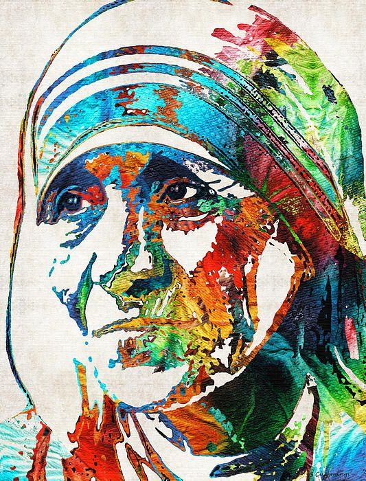 Mother Teresa Tribute By Sharon Cummings by Sharon Cummings