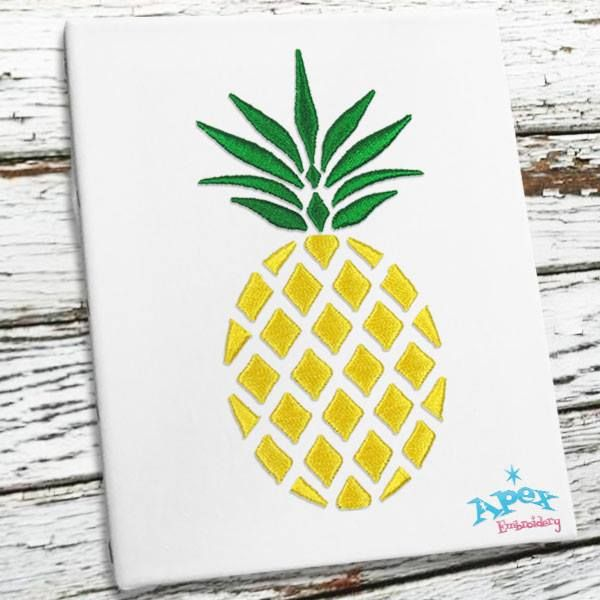 """Pineapple Embroidery Designs with 3"""" and 4"""""""