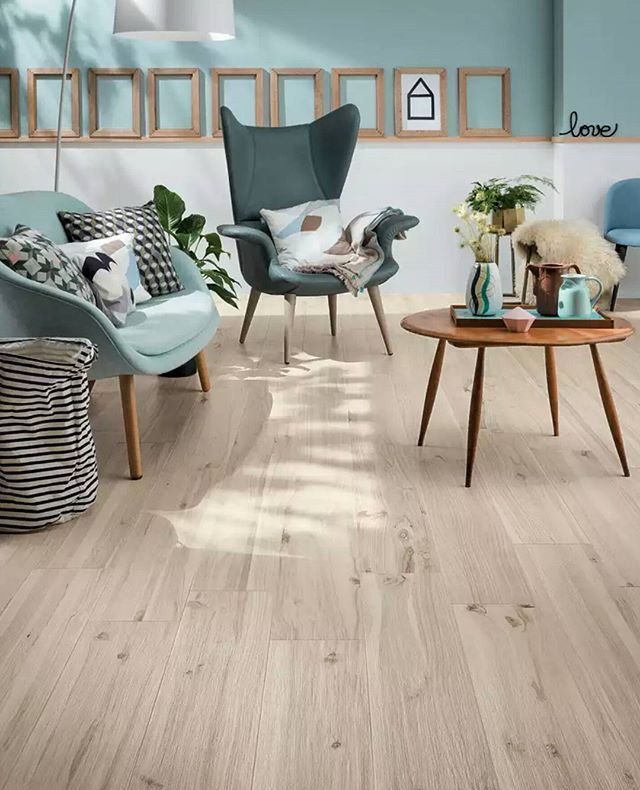 The new Koru collection takes inspiration from the natural wood of fruit trees and calm Nordic tones. Keep it contemporary with retro furniture and pastel colours.  #koru #newcollection #newtiles #tiletrends #floortiles #woodtile #woodfloors #homedesign #porcelaintiles #miragetile #tiles #nordicinspiration #retrofurniture